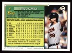 1994 Topps #4  Paul Carey  Back Thumbnail