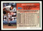 1994 Topps #120  Jimmy Key  Back Thumbnail