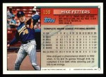1994 Topps #159  Mike Fetters  Back Thumbnail