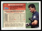 1994 Topps #195  Edgar Martinez  Back Thumbnail