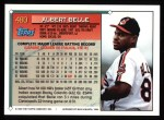 1994 Topps #480  Albert Belle  Back Thumbnail