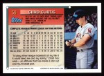 1994 Topps #56  Chad Curtis  Back Thumbnail
