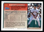 1994 Topps #235  Scott Cooper  Back Thumbnail