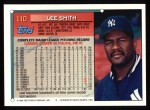 1994 Topps #110  Lee Smith  Back Thumbnail