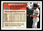 1994 Topps #468  Dante Bichette  Back Thumbnail