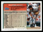 1994 Topps #101  Mark Dewey  Back Thumbnail