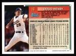 1994 Topps #16  Doug Henry  Back Thumbnail