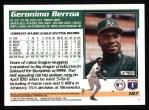 1995 Topps #187  Geronimo Berroa  Back Thumbnail