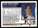 1995 Topps #162  Luis Gonzalez  Back Thumbnail