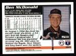 1995 Topps #165  Ben McDonald  Back Thumbnail