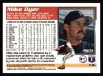 1995 Topps #136  Mike Dyer  Back Thumbnail