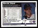 1995 Topps #594  David Nied  Back Thumbnail