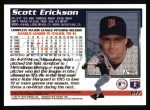 1995 Topps #617  Scott Erickson  Back Thumbnail