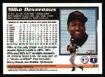 1995 Topps #23  Mike Devereaux  Back Thumbnail