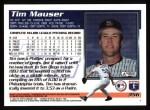 1995 Topps #356  Tim Mauser  Back Thumbnail