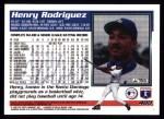 1995 Topps #400  Henry Rodriguez  Back Thumbnail