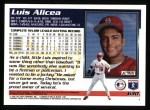 1995 Topps #630  Luis Alicea  Back Thumbnail