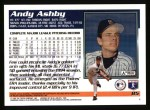 1995 Topps #85  Andy Ashby  Back Thumbnail