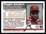 1995 Topps #411  Reggie Sanders  Back Thumbnail