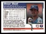 1995 Topps #518  Omar Daal  Back Thumbnail