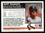 1995 Topps #375  Jeff Tackett  Back Thumbnail