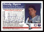1995 Topps #330  Randy Myers  Back Thumbnail