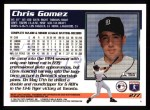 1995 Topps #277  Chris Gomez  Back Thumbnail