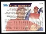 1995 Topps #233  Alan Benes  Back Thumbnail