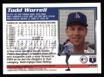 1995 Topps #204  Todd Worrell  Back Thumbnail