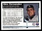 1995 Topps #163  Alex Fernandez  Back Thumbnail