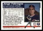 1995 Topps #493  Jorge Fabregas  Back Thumbnail