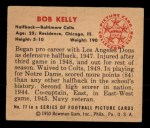 1950 Bowman #77  Bob Kelly  Back Thumbnail
