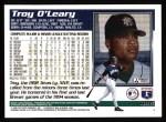 1995 Topps #496  Troy O'Leary  Back Thumbnail