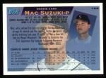 1995 Topps #168  Mac Suzuki  Back Thumbnail