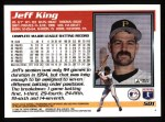 1995 Topps #501  Jeff King  Back Thumbnail