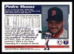 1995 Topps #274  Pedro Munoz  Back Thumbnail