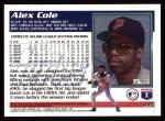 1995 Topps #331  Alex Cole  Back Thumbnail