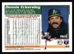 1995 Topps #45  Dennis Eckersley  Back Thumbnail