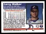 1995 Topps #422  Larry Walker  Back Thumbnail
