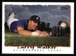 1995 Topps #422  Larry Walker  Front Thumbnail