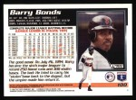 1995 Topps #100  Barry Bonds  Back Thumbnail