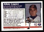 1995 Topps #478  Albie Lopez  Back Thumbnail