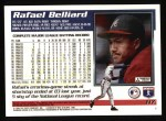 1995 Topps #117  Rafael Belliard  Back Thumbnail