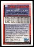 1995 Topps #551  Chris Clemons  Back Thumbnail