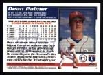 1995 Topps #365  Dean Palmer  Back Thumbnail
