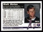 1995 Topps #110  Walt Weiss  Back Thumbnail