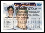 1995 Topps #91  Brad Woodall  Back Thumbnail