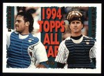 1995 Topps #391   -  Mike Piazza  /  Mike Stanley All-Star Front Thumbnail