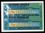 1995 Topps #655  Esteban Loaiza  Back Thumbnail
