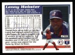 1995 Topps #374  Lenny Webster  Back Thumbnail